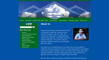 High Mountain Signs, LLC website