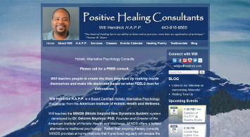 Positive Healing Consultants website