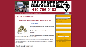 All-State Lock and Key website