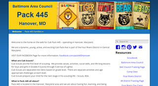 Pack 445 website